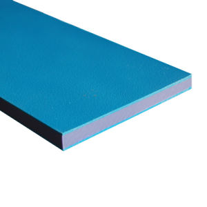 recycled blue trilaminate sheet