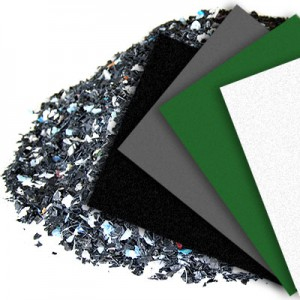 Sampling of colored hdpe sheets